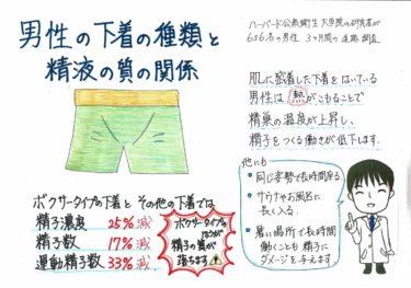 男性の下着の種類と精液の質の関係